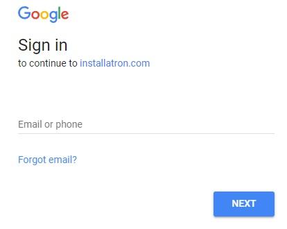 Installatron Google Sign In